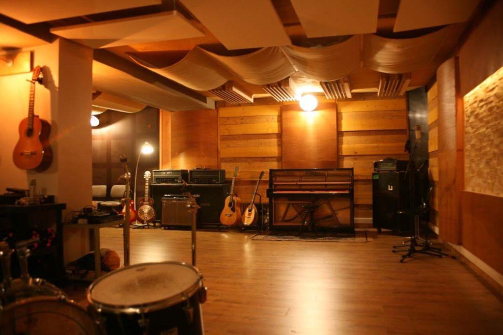 Studio Lyon : salle d'enregistrement du studio Woodlark